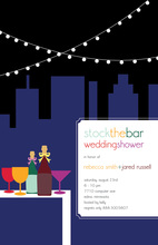 Outdoor Rooftop Stock the Bar Shower Invitations