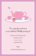 Cupcakes And Tea Invitations