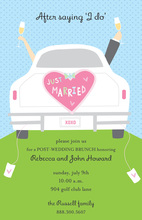 Wedding Getaway Car Invitation