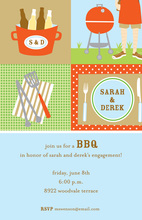 Modern Message BBQ Invitations