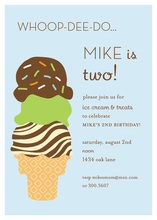 Sprinkle On Ice Cream Triple Scoop Invitations