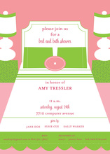 Preppy Boudior Private Bedroom Shower Invitations