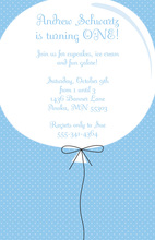 Big Birthday Balloon Invitations