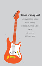 Orange Lightning Bolt Guitar Invitations