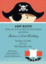 Pirate Voyage Little Boy Invitations