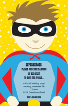 Facing Modern Superhero Invitations
