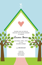 Inspiring House That Love To Built Party Invitations