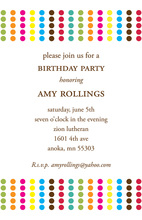 Great Modern Colored Dots Invitation