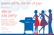 Upcoming July BBQ party Invitation