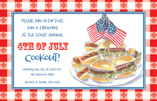 Hamburger Patriotic Cookout Invitations