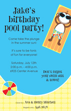 Come Monkey Pool Party Invitations