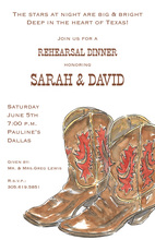 Worn Western Cowboy Boots Party Invites