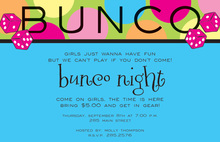 Fun Bunco Game Invitations