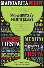 Margarita Night Speak-Out Invitations