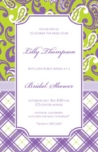 Stylish Trendy Preppy Lilac Invitation