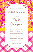 Preppy Fuchsia Paisley Patterns Invitation