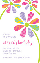 Patterned Petals Invitation