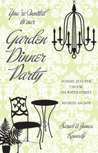 Garden Dinner Chandelier Invitation