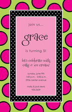 Strawberry Burst Polka Dot Invitations