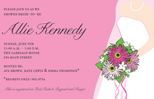 Strawberry Bride Invitation