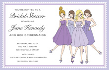 Lilac Bridesmaids Invitation