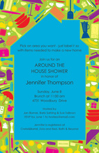 House Full Of Household Items Invitation