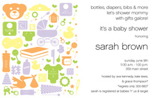 Baby Things Toys Invitation