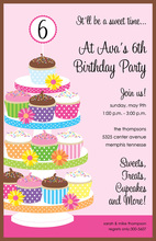 Fabulous Birthday Cupcake Tower Invitation