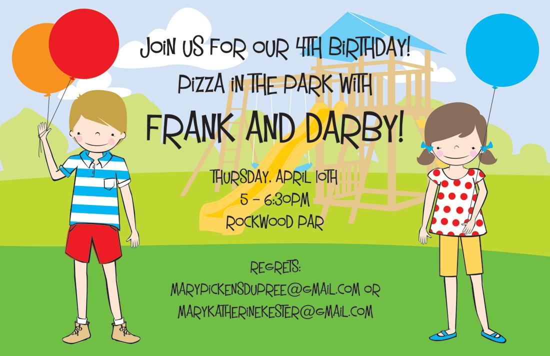 Playground Party Invitations