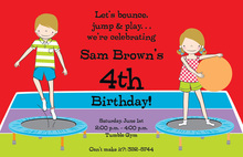 Kids Gym Party Invitations