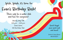 Bouncy Slide Summer Party Invitations