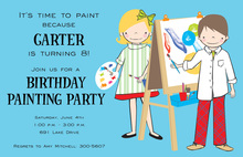 Art Kids Invitation