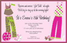 Party Pjs Slumber Party Invitations