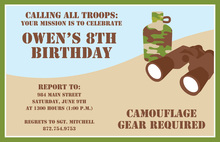 Camo Spy Outdoor Invitations