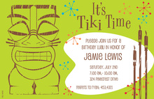 Classic Hawaiian Tiki Time Invitations
