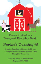 Classic Barnyard Party Invitations