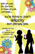 60's Hippies Style Invitations