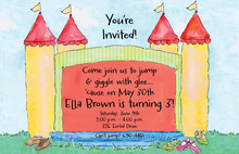 Jumping Bounce House Fun Invitations