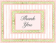 Girl Frills Thank You Cards