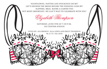 Seductive Sexy Bra Shower Invitations