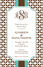 Unique Grand Mocha Tile Invitation