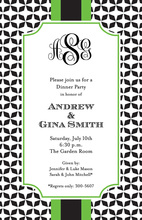 Classy Grand Green Tile Pattern Invitation