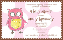 Wonderful Owl Girl Invitations