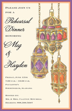 Exquisite Classic Arabian Lights Invitation