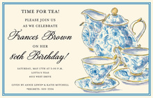 Enjoing Classic Chintz Tea Invitations