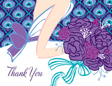 Peacock Bride Thank You Cards