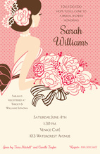 Blushing Beauty In Pink Invitations