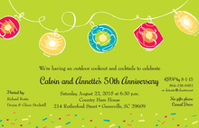 Casual Outdoor Party Lanterns Invitation