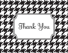 Classic Houndstooth Thank You Cards