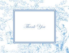 Toile Blue Thank You Cards